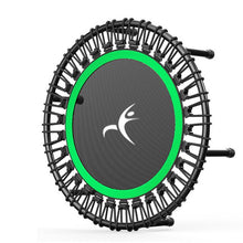 "Load image into Gallery viewer, 40"" Portable Round Mute Adult Trampoline Household Indoor Fitness Dedicated Elastic Rope Trampoline"
