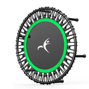 "40"" Portable Round Mute Adult Trampoline Household Indoor Fitness Dedicated Elastic Rope Trampoline"