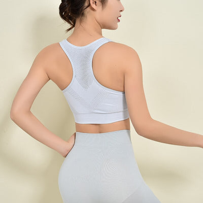 Hollow Out Mesh Sports Bra