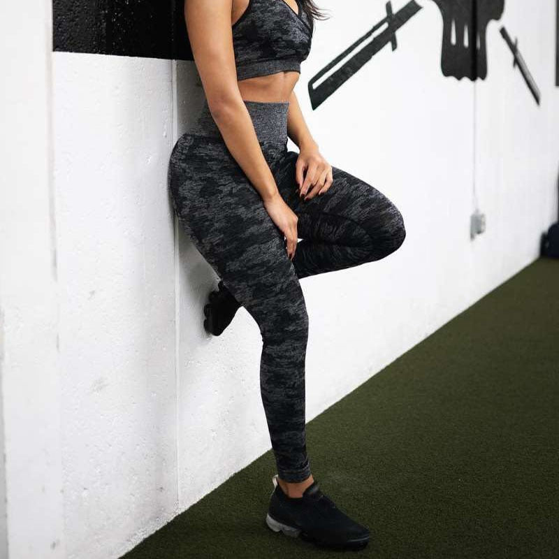 High Waist Camo Seamless Leggings