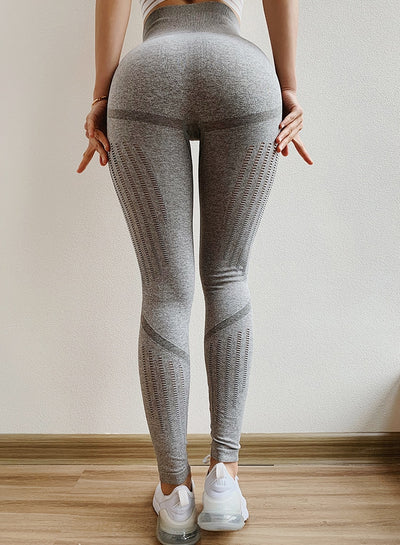 Hollow Out Seamless Sports Leggings