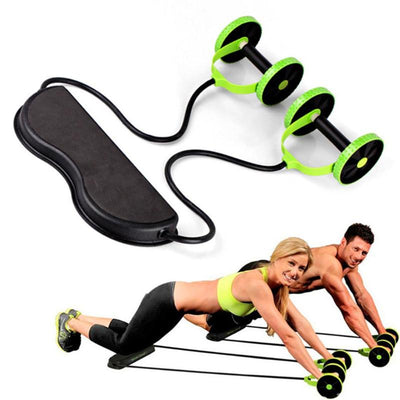 Double Wheel Abdominal Roller Fitness