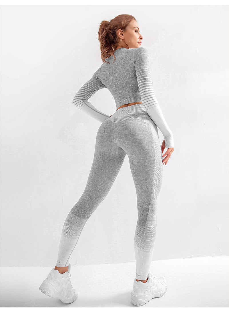 Seamless Long Sleeve Crop Tops