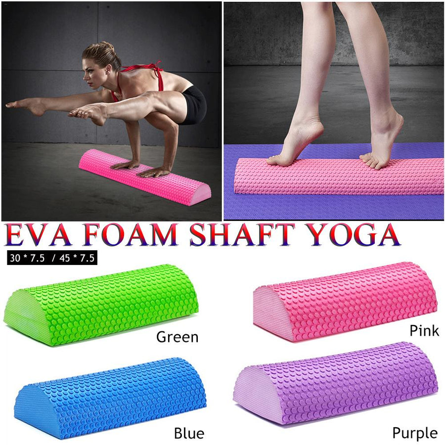 Foam Yoga Roll Semi-circular Massage