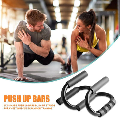 Non-slip S-Shaped Push up Bars