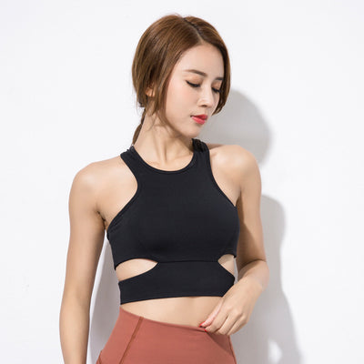 Hollow Out Backless Crop Tops