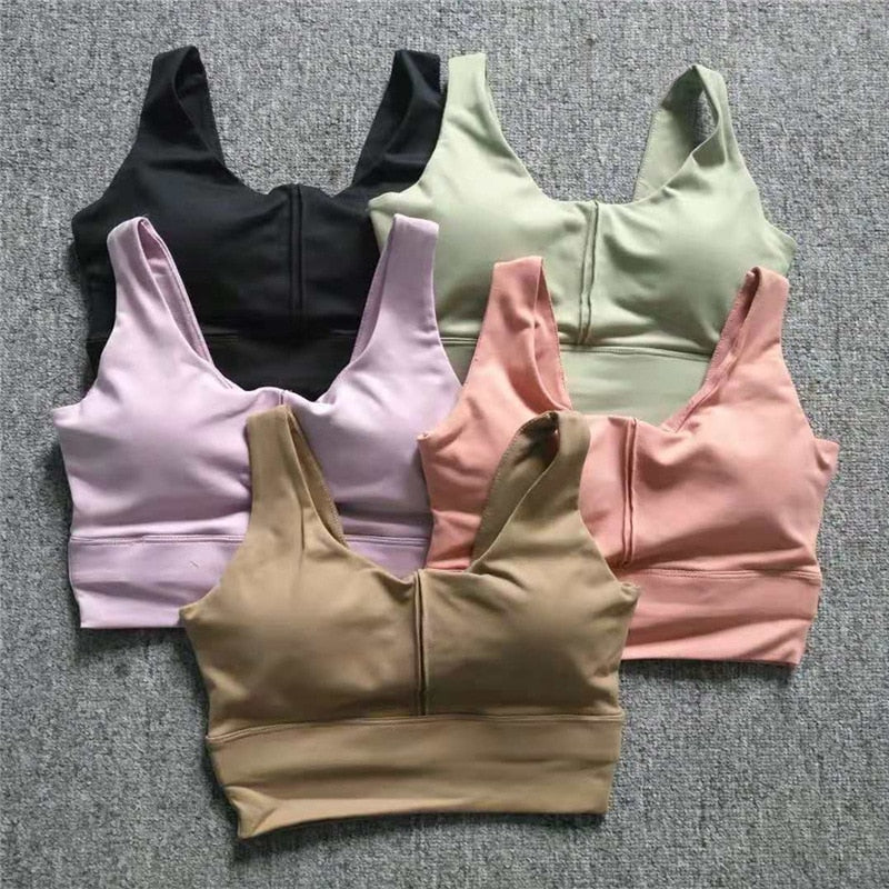 Women's Backless Fitness Bras Top