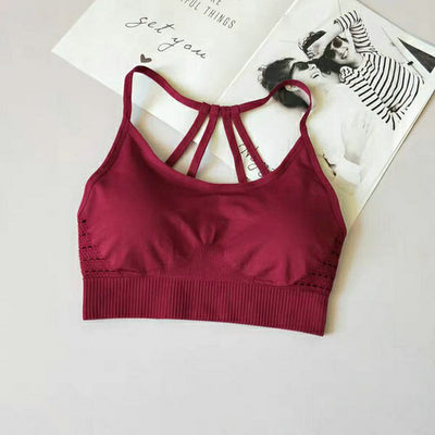 Hollow Out Seamless Sports Bra
