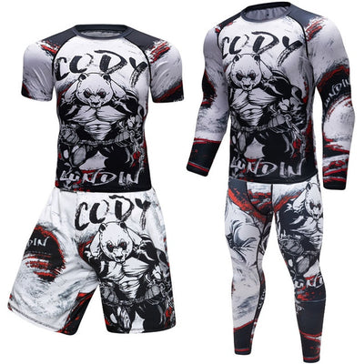 MMA Men's Boxing Jersey Set Fitness