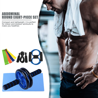 Ab Roller Wheel Resistance Bands