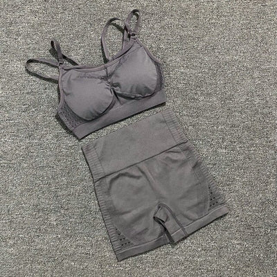 Push-up Strappy Sports Bra Suits