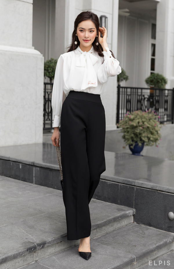 a wide leg trousers in black | SS20B01