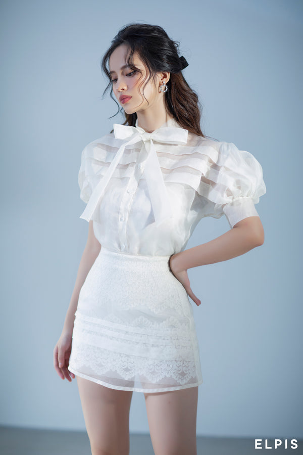 White mini A-line Skirts | FW20B69