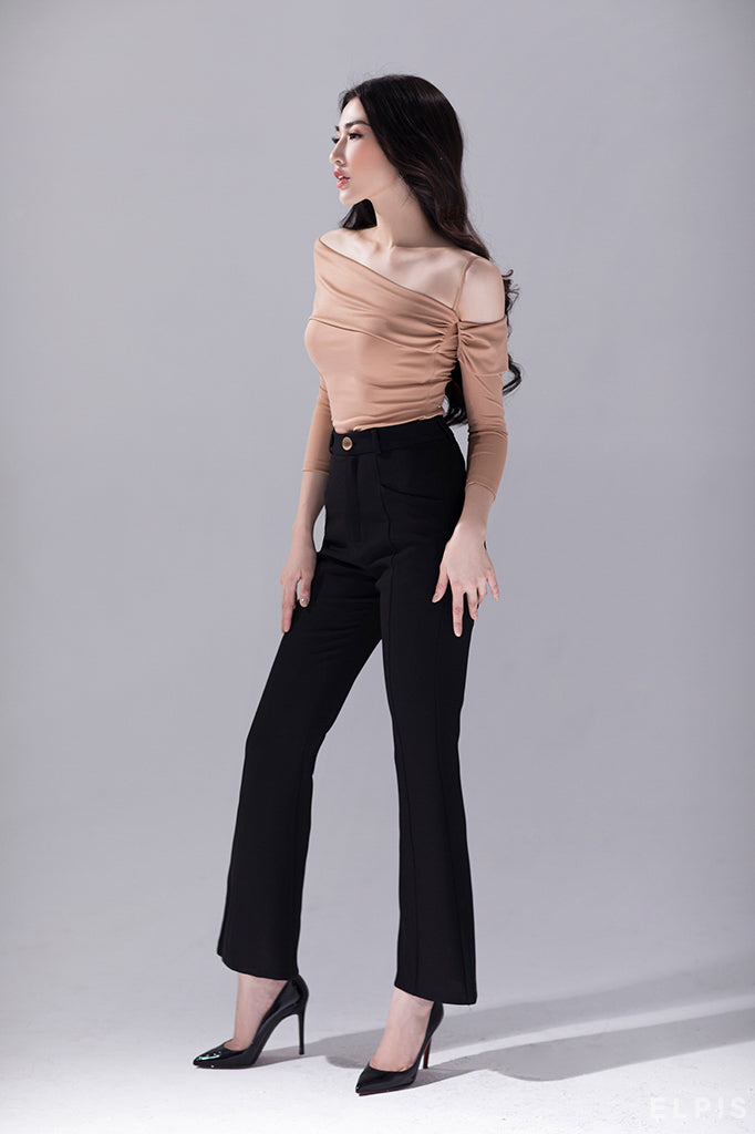 flared black trousers | FW19B03