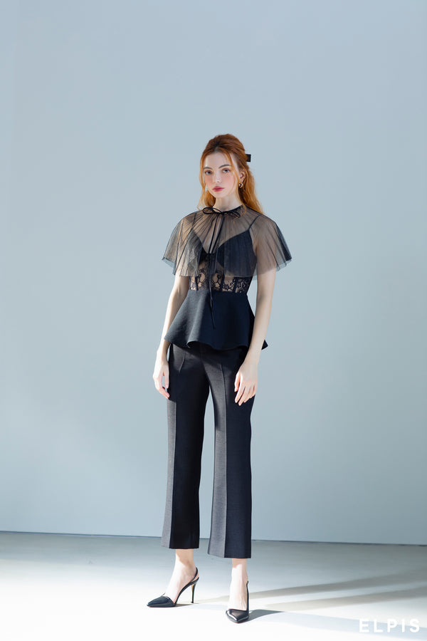 Pants featuring a high waistband, a button, a straight leg | FW20B89