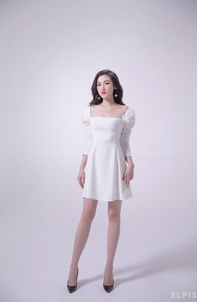Mini dress with gigot sleeve | FW19D03