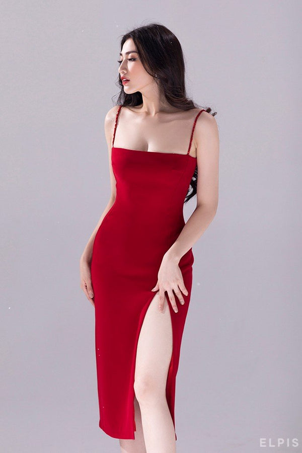 Square neckline body dress | FW19D04