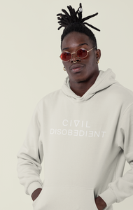 CIVIL DISOBEDIENT | law + order. a premium hoodie in sand