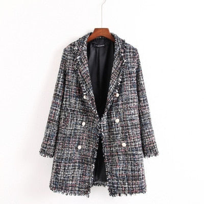 Manteau Écossais Carreaux Traditionnel