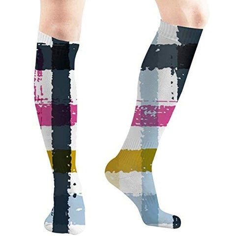 Abstract Compression Socks