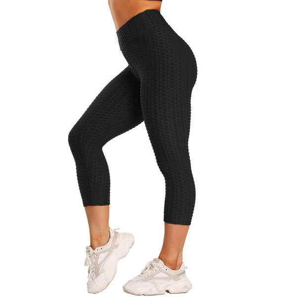 Hot Women Capri Yoga Pants Sexy Sport leggings Scrunch Butt Tights Gym Exercise High Waist Fitness Running Athletic Trousers