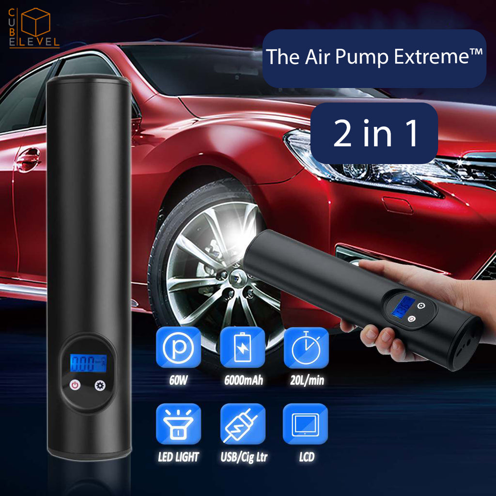 The Air Pump Extreme™ Cordless Air compressor Car Bike Motorcycle Tire Inflator