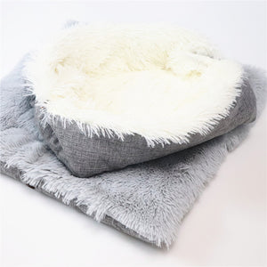 Dual Use Plush Cashmere Bed For Cats Dogs