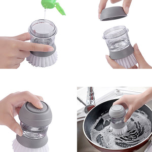 Soap Dispensing Palm Brush With Base