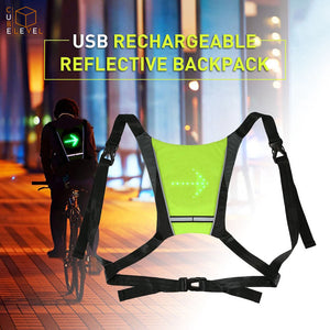 SafeRide™ Wireless LED Bike Safety Vest With Turn Signals