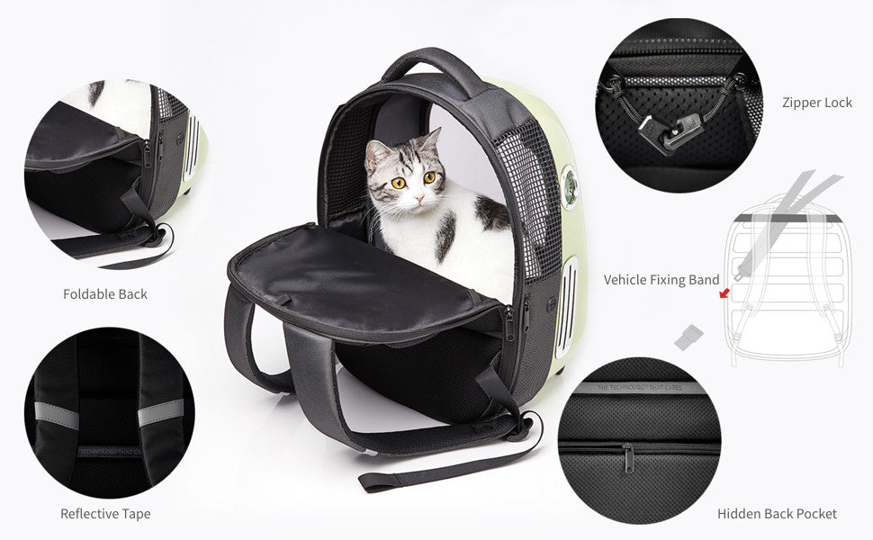 PetKit™ Pet Carrier Travel Backpack for Cats and Small Dogs