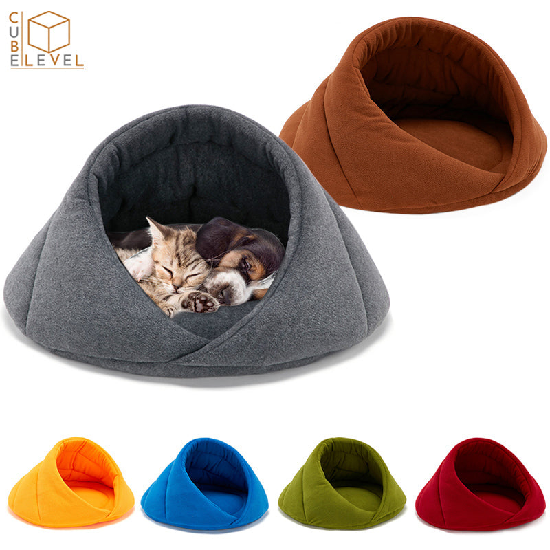Hood Designed Anxiety Relieving Comfy Pet Bed