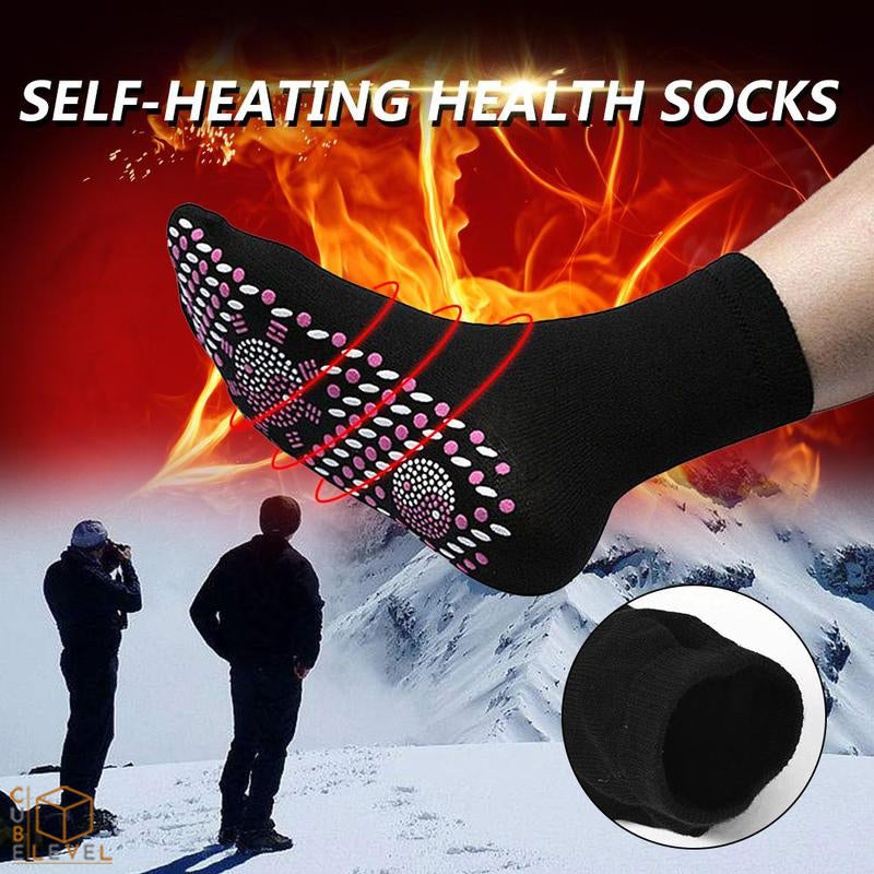 Self Heating Tourmaline Magnetic Socks