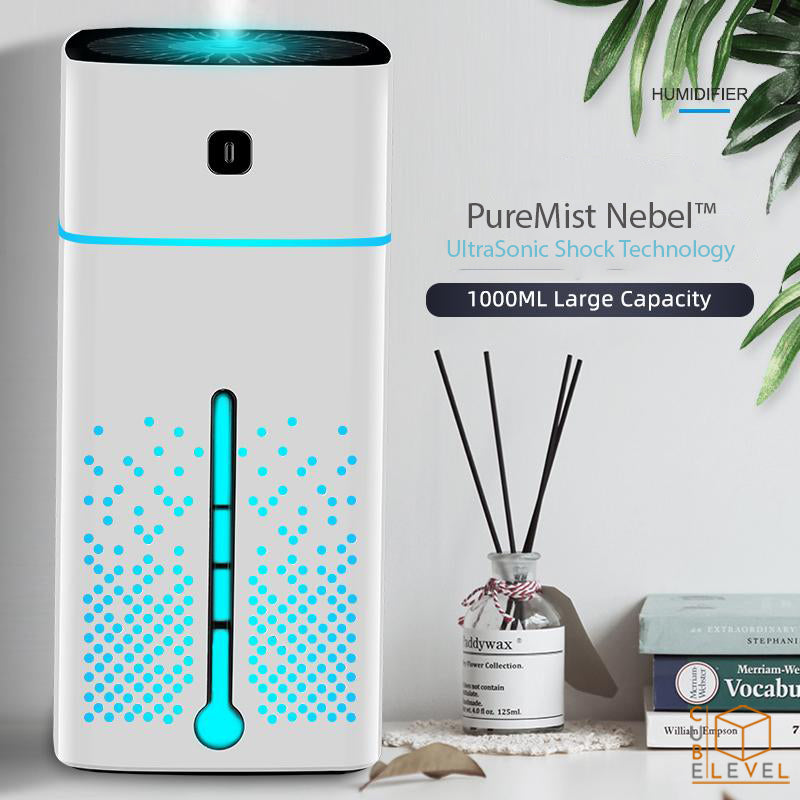 PureMist Nebel™ Ultrasonic Shock Technology 7 Color LED Humidifier