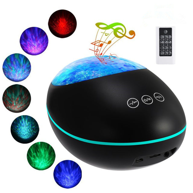 OceanOasis™ Wave Projector Night Light Lamp With Bluetooth Music Player