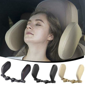 Travel Neck Pillow Leather U-Shape Soft Pillow For Car Headrest ABS Memory Cotton For Adult Child Home Vehicles With Headrests