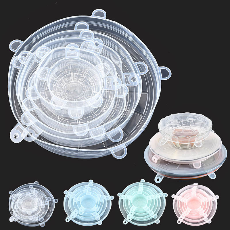 6 Piece Leakproof Silicone Lid Set