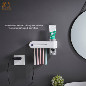 Toothbrush Guardian™ Ultraviolet Toothbrush Holder & Sterilizer With Automatic Toothpaste Dispenser