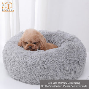 The Perfect Curl & Calming Vegan Shag Fur Dog and Cat Bed