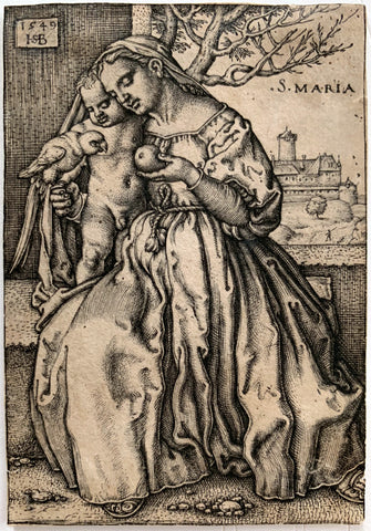 Hans Sebald Beham - Virgin & Child with Parrot