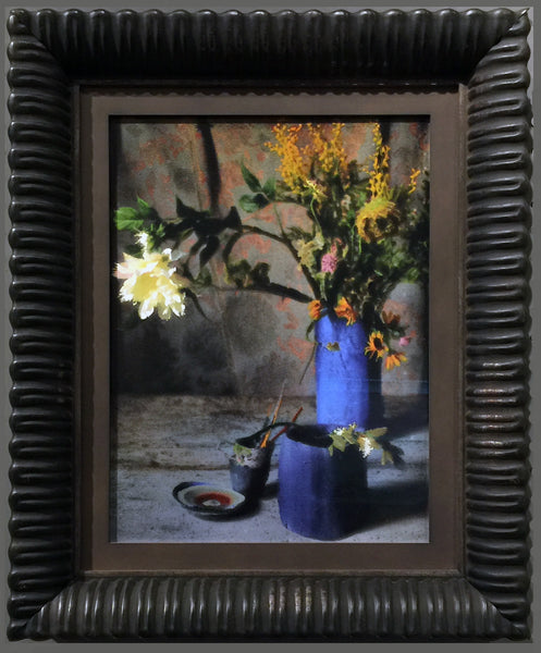 Venetian Antiqued Black Frame