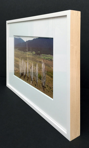Contemporary White Lacquer Frame