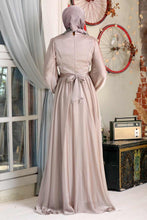 Load image into Gallery viewer, Modest Evening Dress - Beige