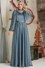 Load image into Gallery viewer, Modest Evening Dress - Blue