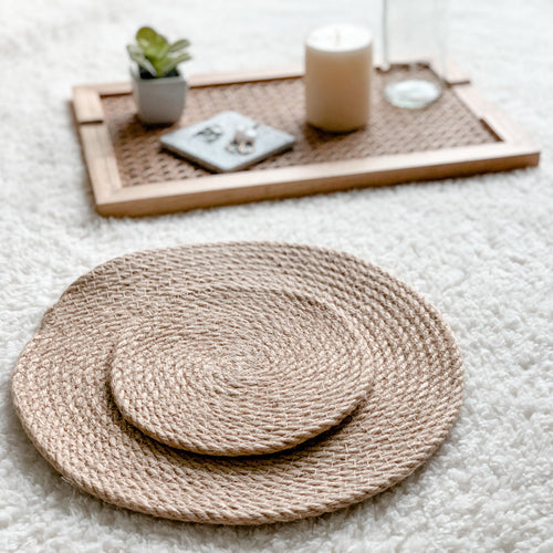 cotton rope dining placemats