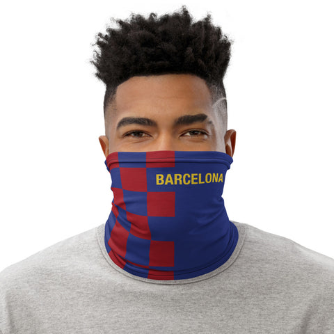 Barcelona Home Kit Checker Gaiter Face Mask