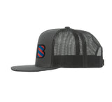 Barcelona Black Logo Soccer Trucker Hat
