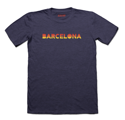 Barcelona Sunblock Graphic Fitted T-Shirt