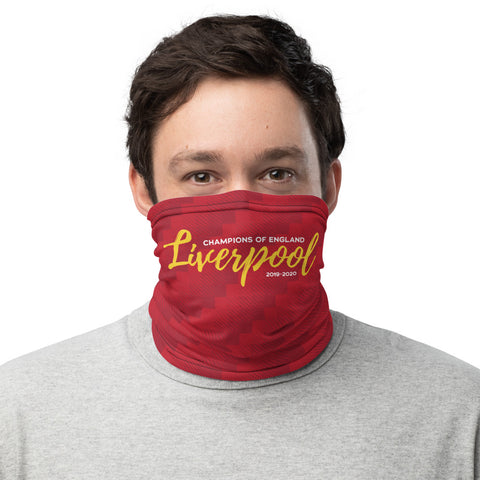Liverpool Champions of England 19-20 Gaiter Face Mask
