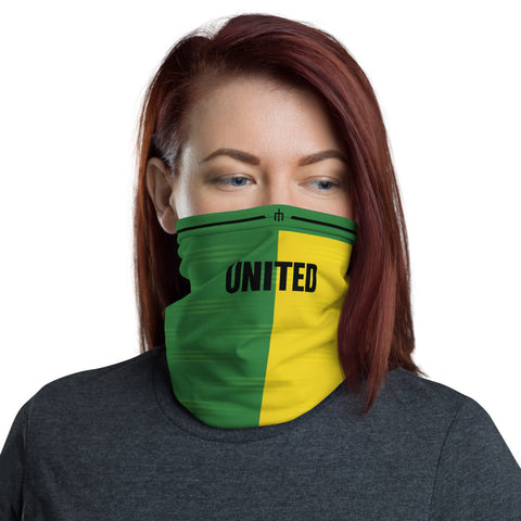 United 92 Green Gold Away Kit Gaiter Face Mask