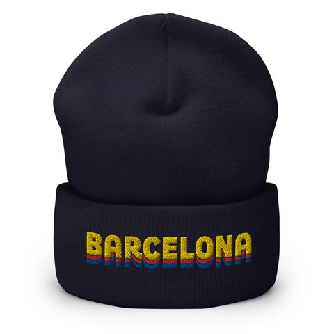 Barcelona Color Shades Cuffed Beanie